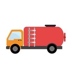Truck transport oil petroleum vector