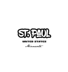 United states st paul minnesota city graffitti vector