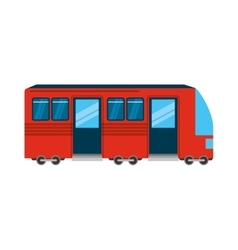 Tram public transport icon vector