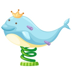 Dolphin amusement park vector