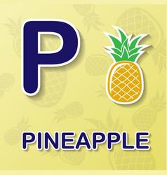pineapple alphabet background vector image