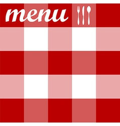 Menu design tablecloth texture vector