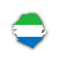 Map and flag of sierra leone vector
