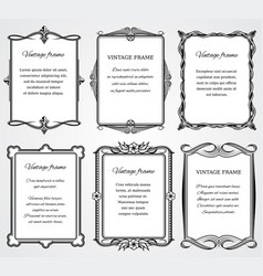 Vintage victorian border frames set for vector