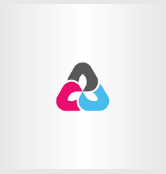 Business logo triangle sign symbol element vector