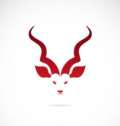 image of an kudu antelope horns vector image