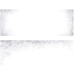 Christmas banners with crystallic snowflakes vector