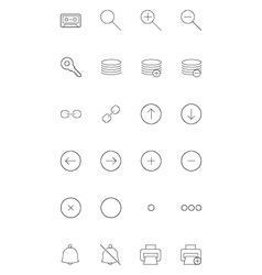 Line icons 6 vector
