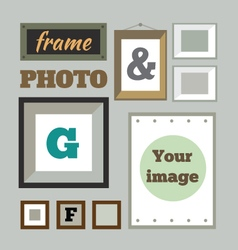 Colorful photo frames in flat style vector