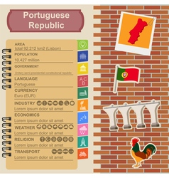 Portugal infographics statistical data sights vector