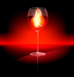 Fire in a glass vector