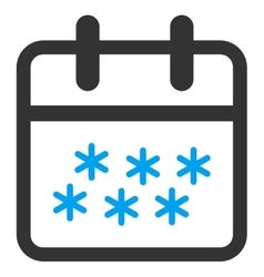 Winter day icon vector