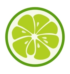 Green lime stylish icon juicy fruit logo vector