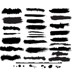 Set of grunge brush vector