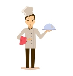 Young professional chef vector