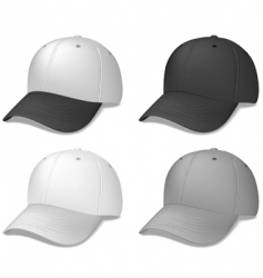 Baseball caps black and grey vector
