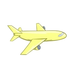 Passenger airplane icon cartoon style vector