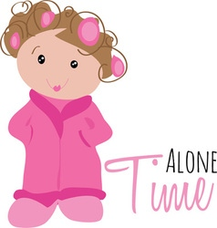 Alone time vector