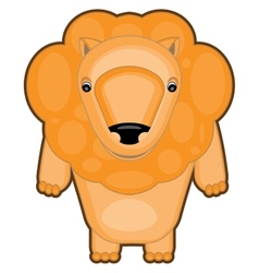 Cartoon of a baby lion vector