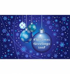 Christmas greetings in blue vector image vector image