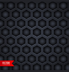 dark hexagonal pattern background design vector image vector image