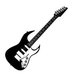 electric guitar contour vector image vector image