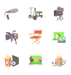 film creation icons set cartoon style vector image vector image