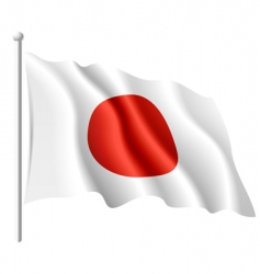 flag of Japan vector image vector image