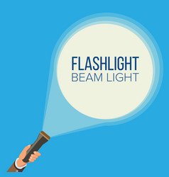 flashlight and hand business web search vector image vector image