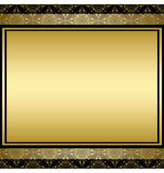 golden background with gradient on vintage pattern vector image vector image