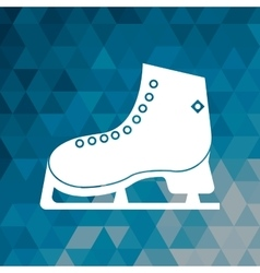ice skate winter sport blue abstract background vector image