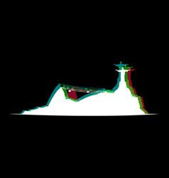 Isolated rio de janeiro cityscape vector