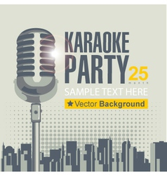 karaoke party vector image