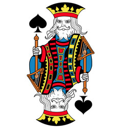 king of spades isolated french version vector image vector image