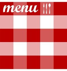 Menu design tablecloth texture vector image