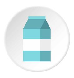 milk box icon flat style vector image