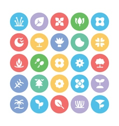 Nature colored icons 9 vector