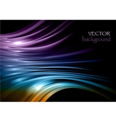 rainbow background new shape black purple vector image vector image