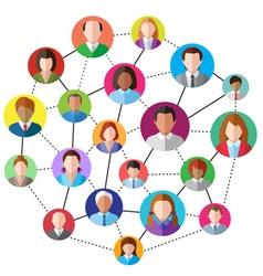 Social media network vector image
