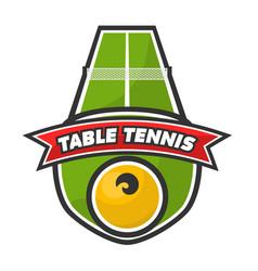 table tennis logo vector image