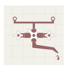 Water tap vector