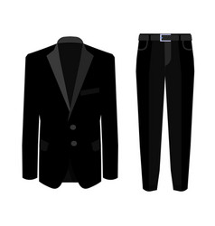 wedding black men s suit with tuxedo collection vector image
