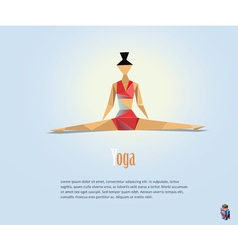 Woman in the yoga pose fitness icon vector