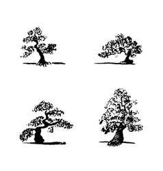 Bonsai set1 vector