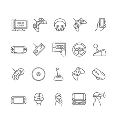 Video games gadget icons vector