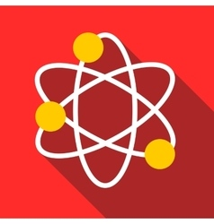 Physics icon flat style vector