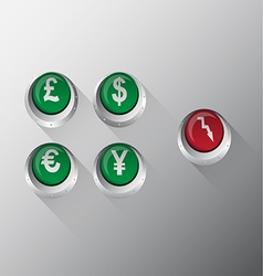 Currency button vector