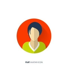 Avatar in a flat style person social media vector