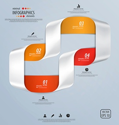 Infographics template vector