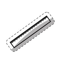 Ruler utensil school thin line vector